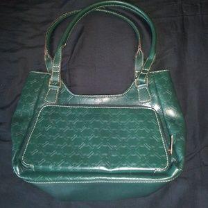 Crazy Horse Liz Claiborne Green Handbag